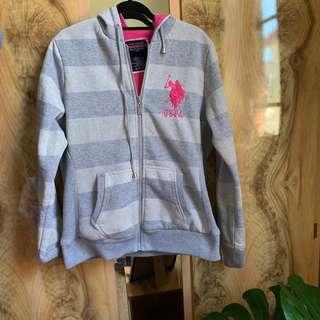 US polo assn hooded jacket sz l/xl