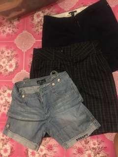 Assorted Shorts - Zara TRF, Tommy Hilfiger, Snoopy