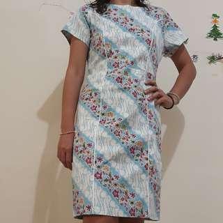 Cotton Stretch Batik Dress