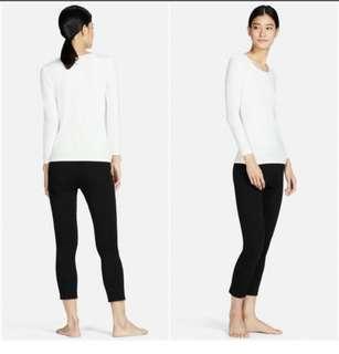Preloved Uniqlo women heattech cropped legging in Black