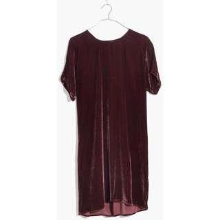 Madewell Velvet T-shirt Dress