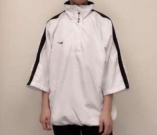 🚚 Nike白色半拉鍊款風衣