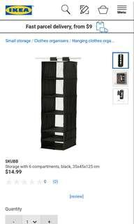 IKEA SKUBB Hanging Storage With 6 Compartments