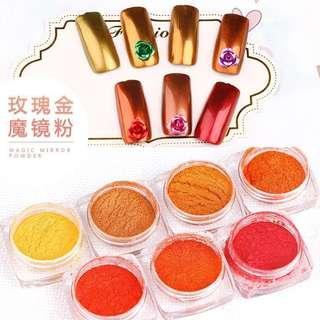Rose Gold Series Mirror Chrome Powder