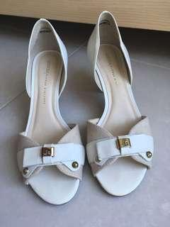 Leather White Heels 38