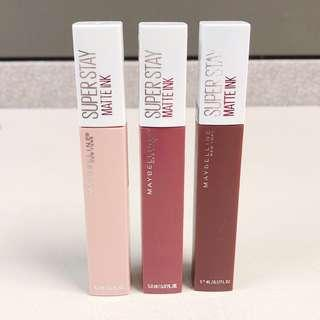Maybelline bundle of 3 super stay matte