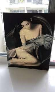 "Beautiful Venatnese Lady Painting (37.5"" L x 29.5"")"