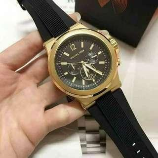 MK DYLAN GOLD RUBBER STRAP AUTHENTIC WATCH