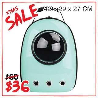 """Cyan"" Astronaut Capsule Cat Bubble Backpack Carrier"
