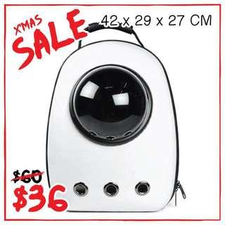 """""""White"""" Astronaut Capsule Cat Bubble Backpack Carrier"""