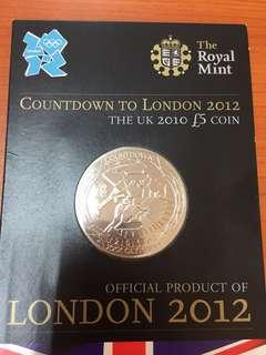 Olympic 2012 London GBP5 coin