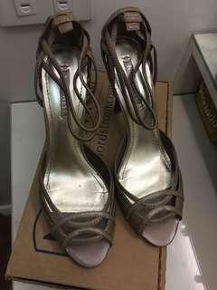 Nine West Taupe Colored Strappy stilettos