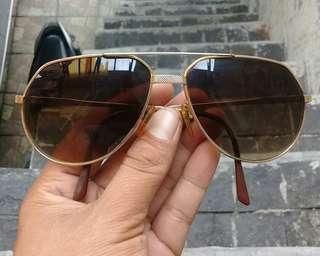 Vendome Santos Aviator Sunglasses Gold Plated AUTHENTIC