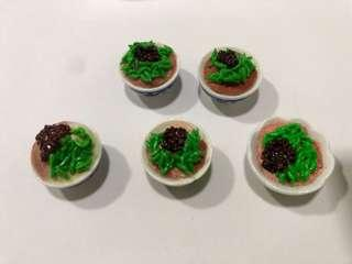 Handmade Miniature Ice Chendol (Clay)
