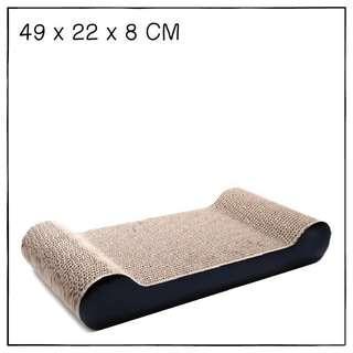 """""""Black"""" Cat Scratching Corrugated Board"""