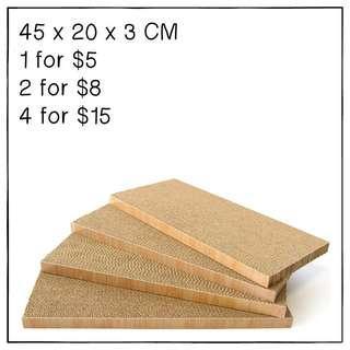 """""""Flat"""" Cat Scratching Corrugated Board"""