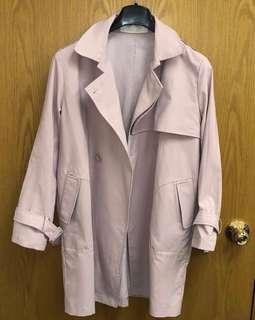 Korea trench coat 98% New 韓國乾濕褸 dirty pink 裸粉
