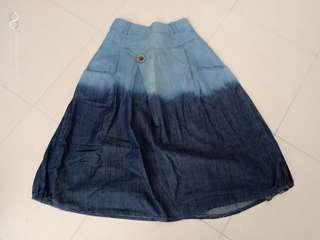 skirt ombre blue denim jeans fashion