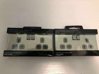 全新BG雙位有製13A插座/蘇底-拉絲綱色/灰插(型號:FBS22G)