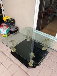 Coffee table kaca glass tebal 1cm