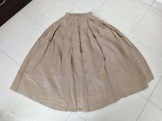 Skirt brown khakis