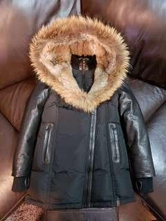 Rudsak Jacket- Full fur hood and leather arms