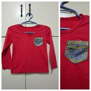 MA212 Red Sweatshirt for Boys 1 to 2 - see pics for Measurements