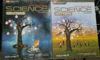 Lower secondary Science Matters Vol A & B