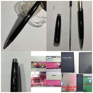 Rollerball Pen Refillable Pencil Case Notebook Cattleya Binder