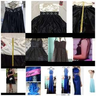 Imported Prom dress cocktail dress black dress white dress blue gown pageant gown long gown