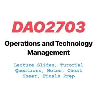 DAO2703 DSC2006 Operations and Technology Management