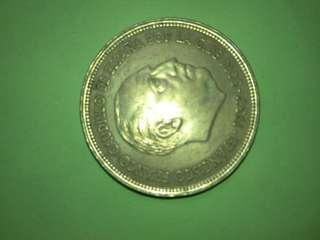Spain 25 Pesetas 1957 (58 inside a 6 pointed star) high grade