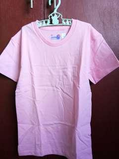 Plain pink shirt round neck