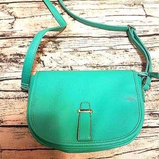 購自韓國 Tiffany Blue湖水綠斜孭袋仔 側咩袋 單孭袋