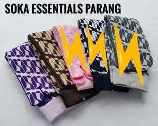 Kaos kaki soka batik parang. Wrn ungu dan coklat new. 35rb take all