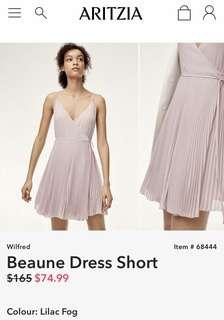 Aritzia Wilfred (sold out) Beaune dress short