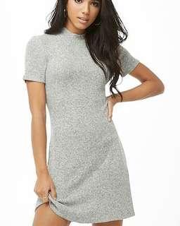 F21 Gray Ribbed Dress