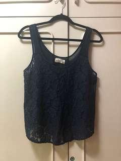 Hollister Blue Lace Top