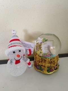 Music box with photo & lighting snow man Christmas gift