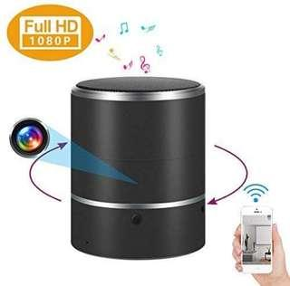 Hidden Camera 1080P WIFI HD Spy Cam Bluetooth Speakers Wireless Mini Camera Rotate 180 Video Recorder