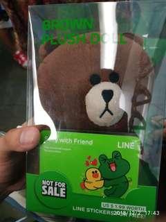 Original 18cm brown bear line plush
