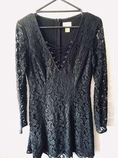 H & M Black lace* dress