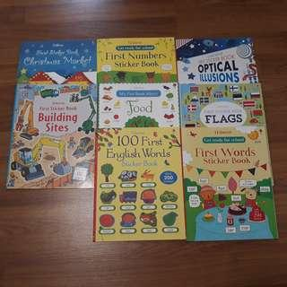Activity stickers books ($6 each)