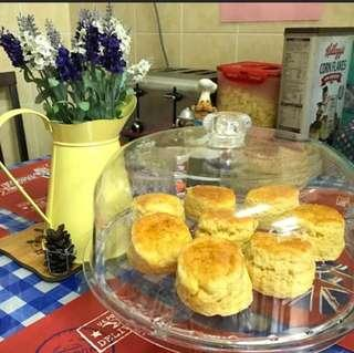 Home baked English scones by an English chef. Perfect for your high tea.