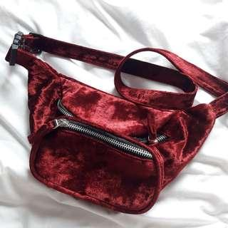Waistbag HnM velvet red