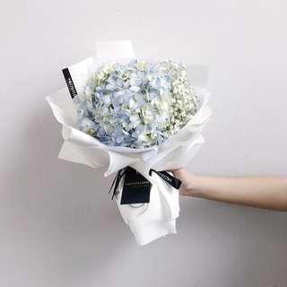 🚚 Hydrangea Flower Bouquet   Birthday Flower   Anniversary Gift   绣球 花束 鲜花