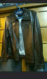 🈹Korean genuine Leather Jacket