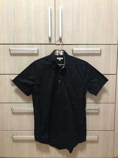 🚚 Burberry黑色短袖襯衫