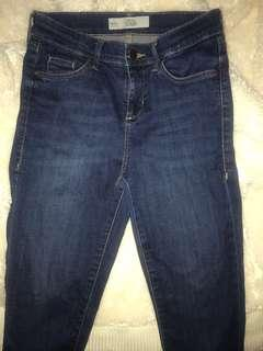 Topshop dark blue Leigh jeans