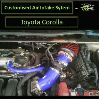 Customize Air Intake For Toyota Corolla. Air intake with Labour. Air Filter.